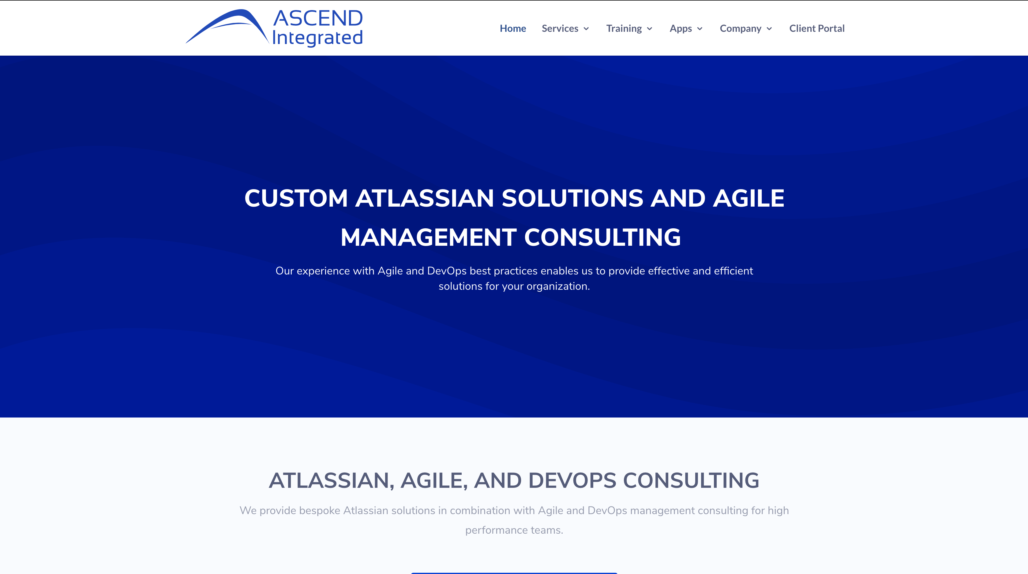Ascend Integrated Home Page